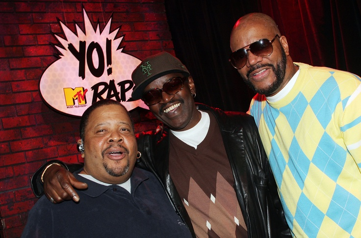 """back when mtv actually played music videos. """"yo! mtv raps"""" = an awesome show that was hosted by doctor dre, fab 5 freddy, and ed lover. lots of great, memorable moments of old-school hip-hop culture were aired throughout the years."""