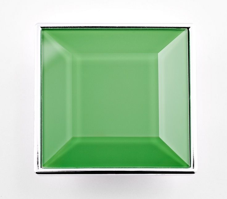 green glass in chrome frame #handle #ambratti #uchwyt