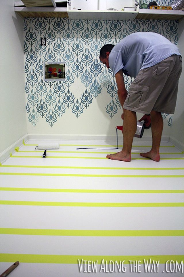 How to Completely Make Over Vinyl or Laminate Floors with Paint