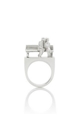 Park bench lovers ring by Bree Dentice