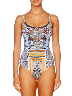 CAMILLA Chinese Whispers One-Piece Embellished Swimsuit. #camilla #cloth #swimsuit