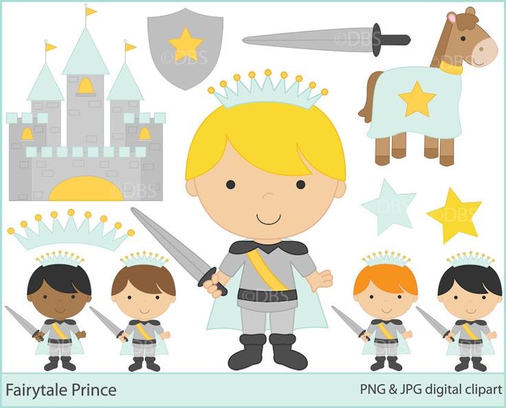 prince clipart clip art digital - BUY 2 GET 2 FREE - Fairytale Prince Clipart. $4,95, via Etsy.