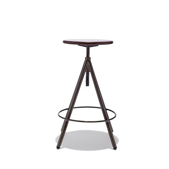 The Helix Bar Stool Features A Solid Steel Form And Solid Walnut Seat. Its  Clean, Simple, Industrial Design Blends Perfectly Into Any Environment.