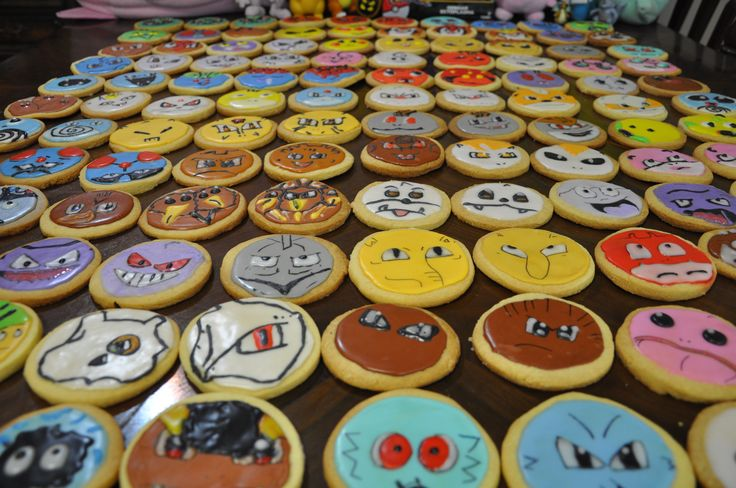 Pokerap Galletas 150 Pokemon!  All 150 Pokemon go cookies! DIY