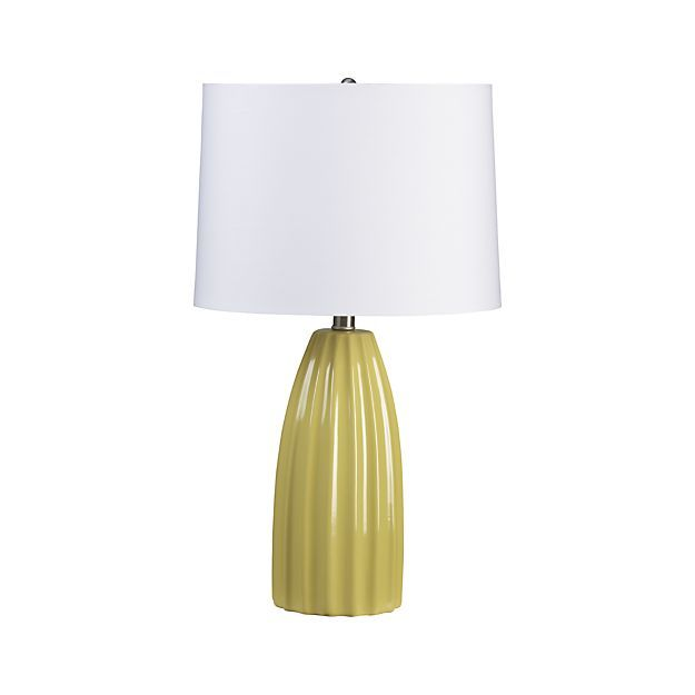Ella Yellow Table Lamp in Table & Desk Lamps | Crate and Barrel