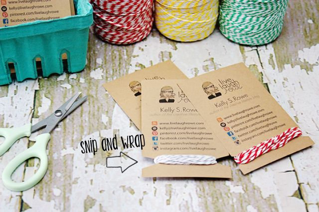 DIY Business Cards which includes free #bakerstwine in the design. #DIYbusinesscard #businesscardidea