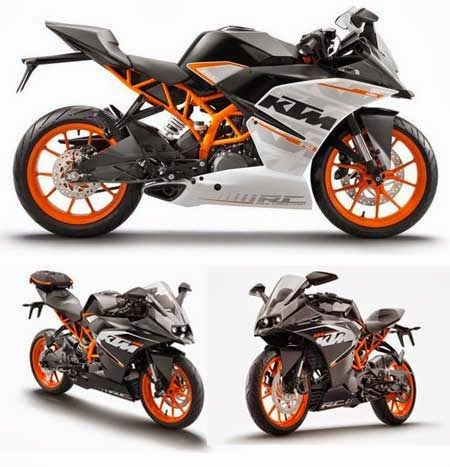KTM RC125, RC200 and RC390 (2014)