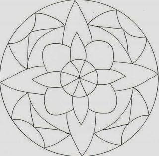 mandala for zentangles