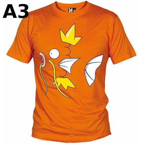 """T-shirt Orange pour Homme (différentes tailles disponibles), logo """"Magicarpe"""" - Format d'impression au choix: A3 ou A4"""