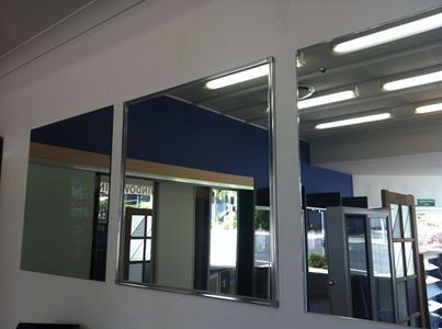 Thinking of purchasing a mirror or having one installed in your home? Here are some of our options - Chrome domes fixed to the wall (a screw under the domes), fully framed mirror with hidden screws or an all around flat polished edge fixed straight to the wall. Give us a call on 38492664 for a quote on your new cut to size mirror today. http://archerglass.com/services.html