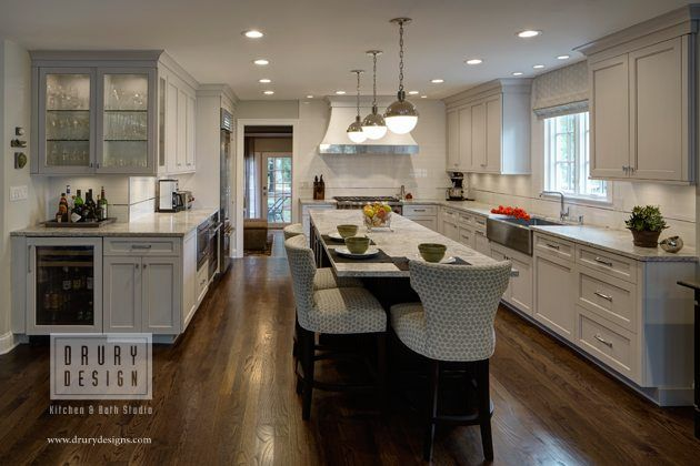 Open Concept L Shaped Kitchen Before And After Drury Design Transitional Kitchen Design Kitchen Dining Living Kitchen Floor Plans