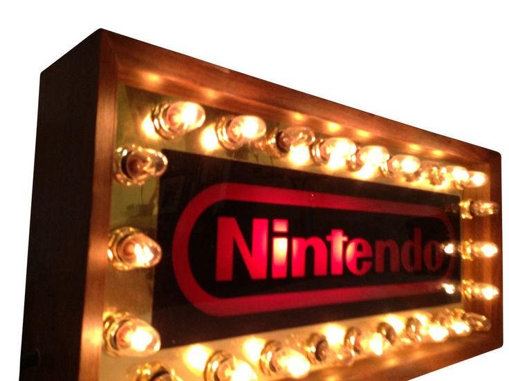 1985 Original Nintendo Store Display Blinking Lights Sign in Entertainment Memorabilia, Video Game Memorabilia | eBay!
