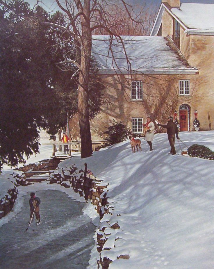 Ken Danby Christmas At The Mill