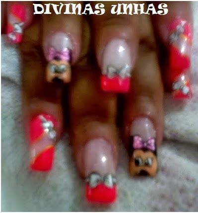 UNHAS DECORADAS - DIVINAS UNHAS: UNHAS DECORADAS MINNIE MARA JANE