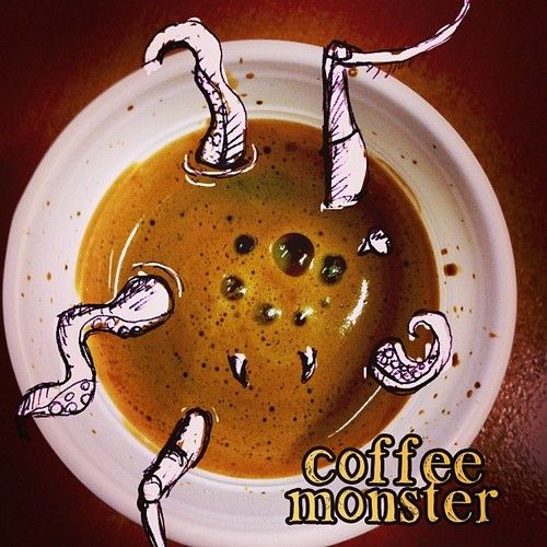 #photoshop #illustrazione #paint #photo #coffee #caffe #foto #disegno #mostro #monster #dream #nightmare #sogno #incubo