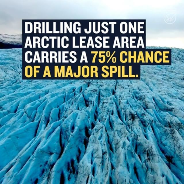 Oil companies don't know how to clean up an oil spill under the best of conditions. How are they going to clean up a spill in the icy, stormy seas of the Arctic if the Trump administration opens it up to drilling? Let's not find out.    Take action to protect our coasts from offshore drilling—link in bio. 👆🏾🦈  ____  #oil #nodrilling #environment #nrdc #climatechange #oceans #resist #coasts #protectourcoasts #offshore #takeaction #Arctic #oilspill