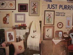 See Sally Sew-Patterns For Less - Just Purrfect Mary Ellen Designs Leisure Arts Cross Stitch Chart Design 453, $7.99 (http://stores.seesallysew.com/just-purrfect-mary-ellen-designs-leisure-arts-cross-stitch-chart-design-453/)