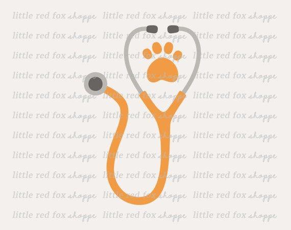 Stethoscope Clipart Veterinarian Clip Art Animal Medical Paw