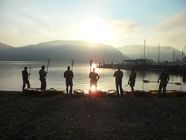 Hudson River Sunrise - Kayak & Hike the Hudson River Valley -- Storm King Adventure Tours 845-534-7800