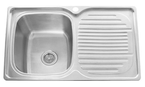 We research and find seven places to buy stainless steel drainboard sinks that drop into your kitchen counter top. Farmhouse style -- in steel!