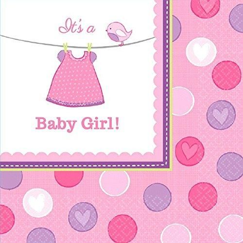It's a Baby Girl Luncheon Napkin - 16 Ct