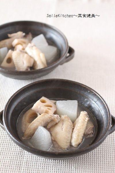 レシピ【鶏手羽先と根菜の食べる中華風スープ】 by いっこ@白柳徹子 ...
