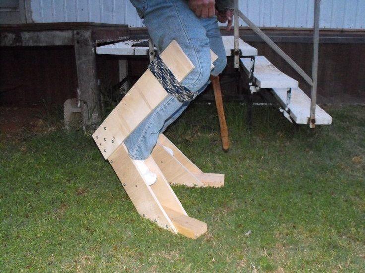 How To Make Digitigrade Stilts Close up of digitigrade stilt prototype ...