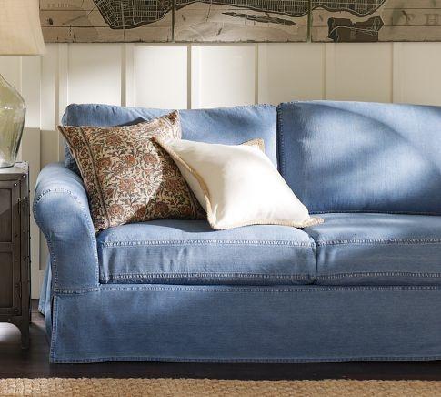 PB Comfort Slipcovered Sofa - Vintage Denim  omg, love this!!