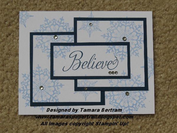 Triple Time Stamping card