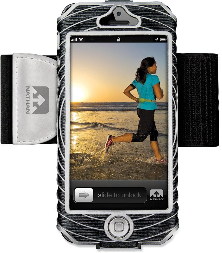 Keeps your phone securely and comfortably attached—Nathan Sonic Boom iPhone 5 Armband.
