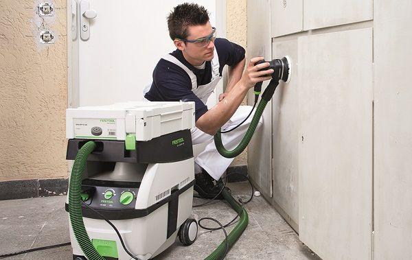 Festool Dust Extractor in action