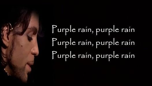 Prince - Purple Rain lyrics  I never meant 2 cause you any sorrow I never meant 2 cause you any pain I only wanted 2 one time see you laughing I only wanted 2 see you laughing in the purple rain  Purple rain Purple rain Purple rain Purple rain Purple rain Purple rain  I only wanted 2 see you bathing in the purple rain I never wanted 2 be your weekend lover I only wanted 2 be some kind of friend Baby I could never steal you from another It´s such a shame our friendship had 2 end  Purple rain…