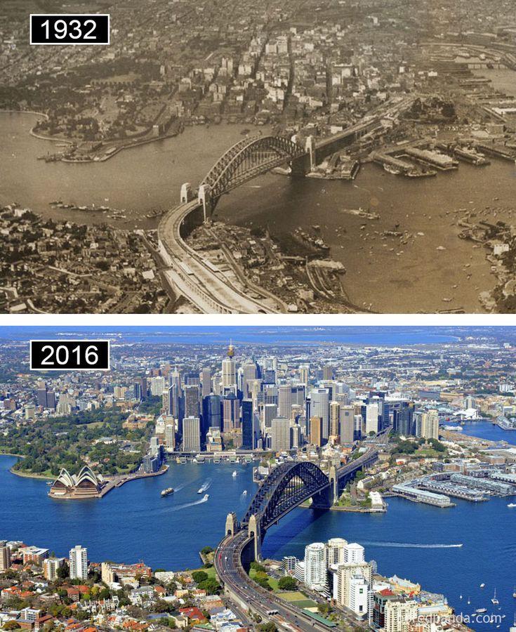 Sydney, Australie -avant-maintenant