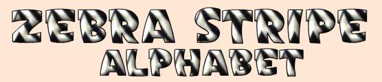 Zebra Stripe Fonts