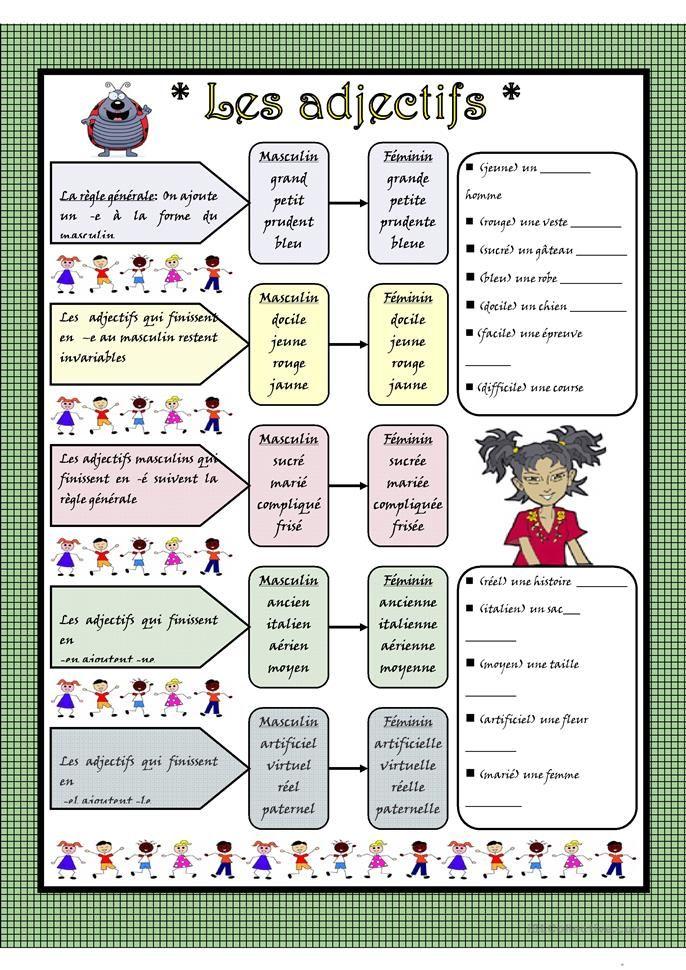 18 best Les Adjectives et leurs contraires images on Pinterest   French language, French grammar ...
