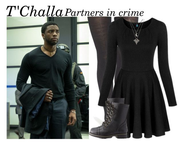 Partners in Crime: T'Challa Part 2 by hannaczerny on Polyvore featuring polyvore fashion style Smartwool Charlotte Russe clothing blackpanther tchalla