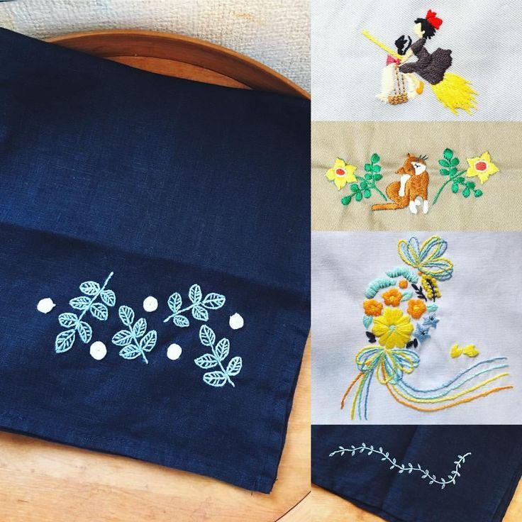 西荻窪の刺繍教室『アンナとラパン』参加者さんの作品。 黒いハンカチに白いバラ。紙刺繍の図案なら、黒い布でもサテンステッチよりは刺しやすいです。 (5つのステッチでできるannasの刺繍工房 より) 『ネコだらけ』の図案も色を変えれば雰囲気が変わりますね。 ・ ・ #刺繍 #魔女の宅急便 #紙刺繍 #手刺繍 #embroidery #embroidered #needlework #手芸 #ステッチ #stitching #刺しゅう #暮らしを楽しむ #ハンドメイド #자수 #вышивка #broderie #ししゅう #手作り #手芸 #ハンドメイド #刺繡 #ほっこり #刺繍部 #bordado #ステッチ #embroideryart #handembroidery