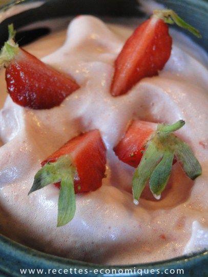 mousse de fraises thermomix