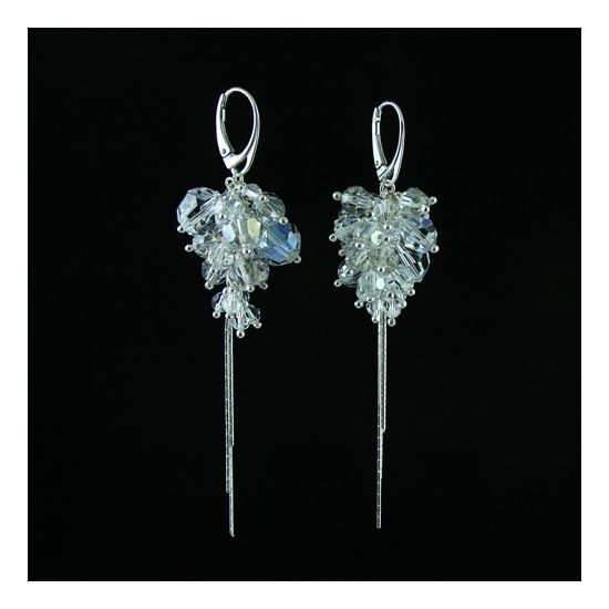 Transparent Bouquet made of silver and Swarovski crystals. Perfect for parties and weddings.