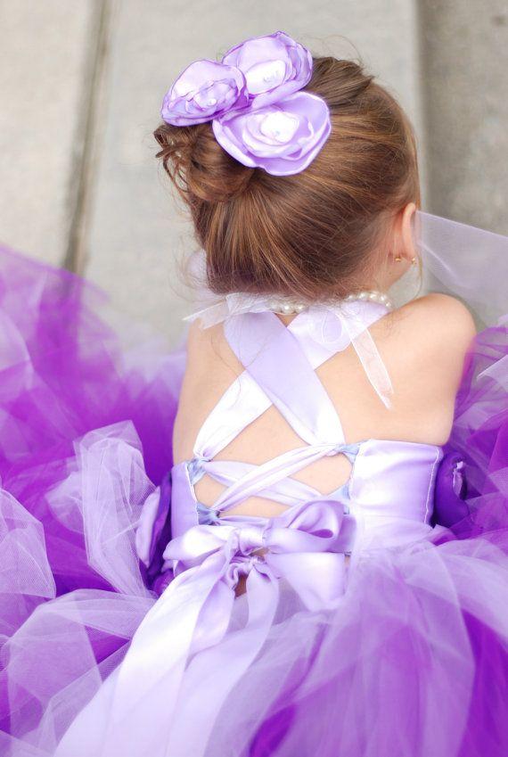 Flower Girl Tutu Dress Floor Length Sewn Tutu by gabriellaevabella, $95.00