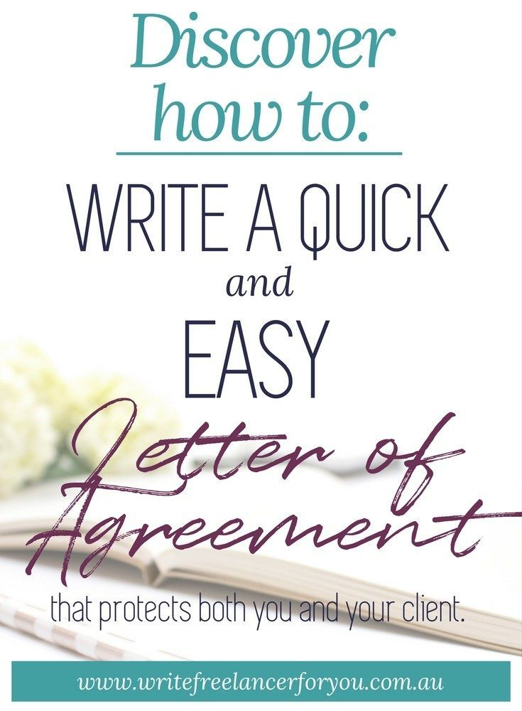 Letter Of Agreement Loa Quick Contract Freelance Writer Business