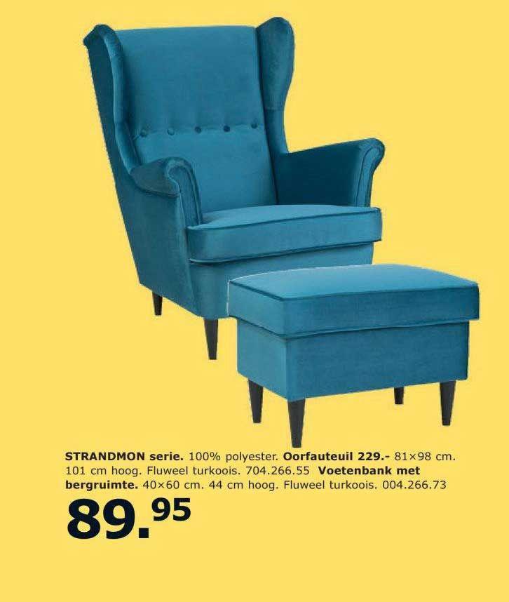 Strandmon Serie Aanbieding Bij Ikea In 2020 Oorfauteuil Voetenbank Stoel Ikea