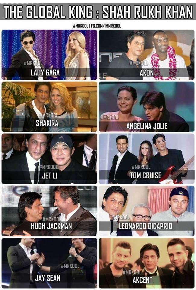 SRK with Hollywood icons...#Bollywood #Shahrukh #Khan