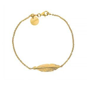 Gold Vermeil Feather Bracelet