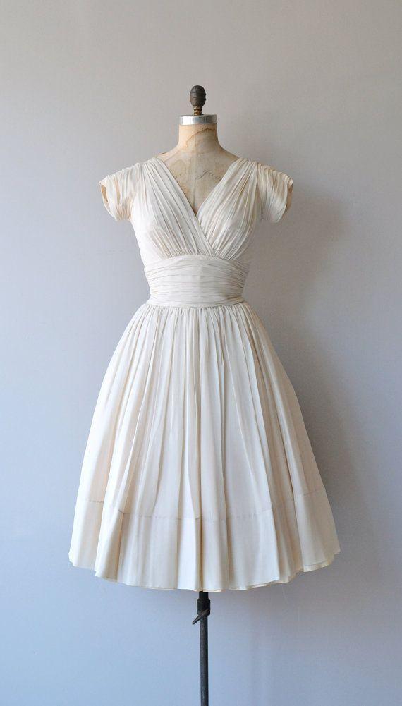 Ritournelle dress vintage 1950s dress silk chiffon by DearGolden