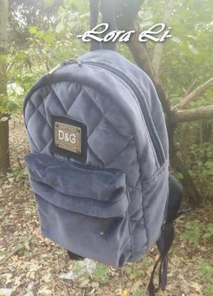 Стильный женский рюкзак, натуральный хлопковый бархат+ за+400+грн.