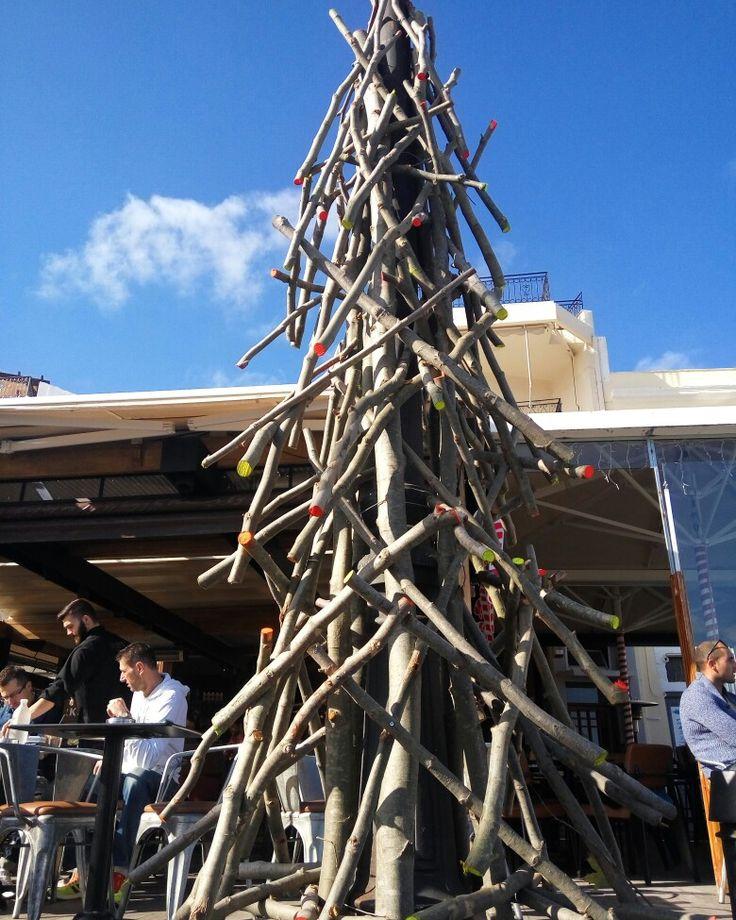christmas tree  #handmade with #woodsticks #store311 #christmas #decoration #flowershop #oneiranthi #rethymno #crete #greece