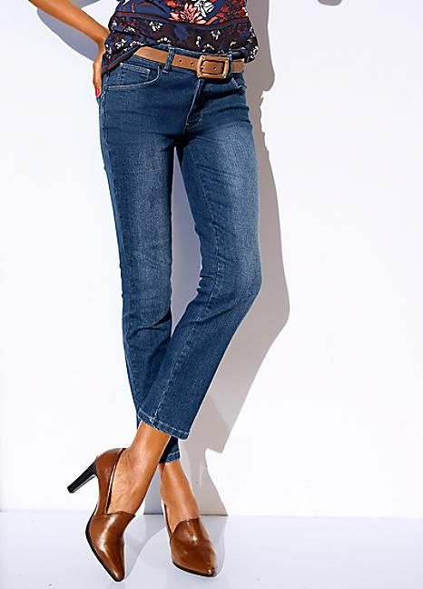 Ashley Brooke Cropped Control Jeans