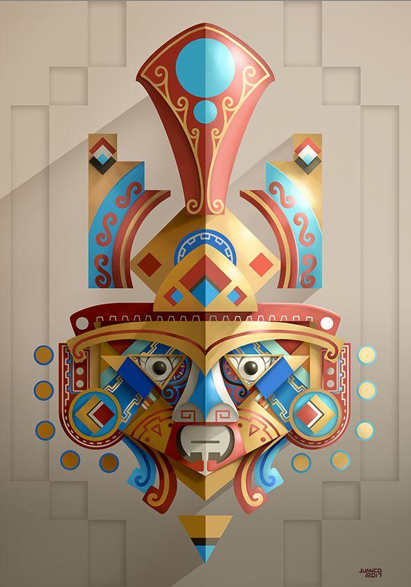 Masks and gods 5 on Behance