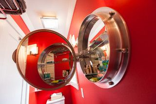 porthole style medicine cabinet mirror--so cool!